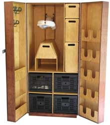 Woodworking basics tack armoire plans for Tack cabinet plans
